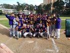 Oakland Tech Bulldogs Boys Varsity Baseball Spring 16-17 team photo.