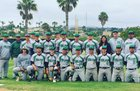 Hilltop Lancers Boys Varsity Baseball Spring 16-17 team photo.