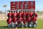 Rosamond Roadrunners Boys Varsity Baseball Spring 16-17 team photo.