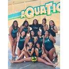 Rancho Alamitos Vaqueros Girls JV Water Polo Winter 18-19 team photo.