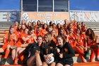 Boone Braves Girls Varsity Soccer Winter 18-19 team photo.