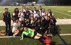 Diamond Hill-Jarvis Eagles Girls Varsity Soccer Winter 18-19 team photo.
