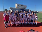 Manor Mustangs Girls Varsity Soccer Winter 18-19 team photo.