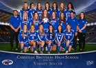 Christian Brothers Falcons Girls Varsity Soccer Winter 18-19 team photo.