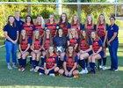 Lemon Bay Manta Rays Girls Varsity Soccer Winter 18-19 team photo.