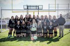 Milton Panthers Girls Varsity Soccer Winter 18-19 team photo.