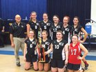 Westover Christian Academy Bulldogs Girls JV Volleyball Fall 15-16 team photo.