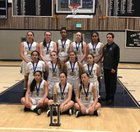 Archbishop Mitty Monarchs Girls JV Basketball Winter 17-18 team photo.