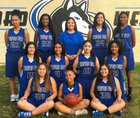 Hanford West Huskies Girls JV Basketball Winter 17-18 team photo.
