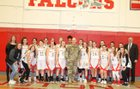 Cranston West Falcons Girls JV Basketball Winter 17-18 team photo.