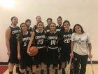 Capital Jaguars Girls JV Basketball Winter 17-18 team photo.