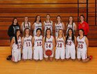 Coldwater Cardinals Girls JV Basketball Winter 17-18 team photo.