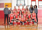 Albuquerque Academy Chargers Girls JV Basketball Winter 17-18 team photo.