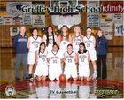 Gridley Bulldogs Girls JV Basketball Winter 17-18 team photo.