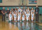 Del Norte Knights Girls JV Basketball Winter 17-18 team photo.