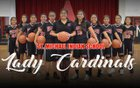 St. Michael Cardinals Girls JV Basketball Winter 17-18 team photo.