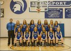 Springport Spartans Girls JV Basketball Winter 17-18 team photo.