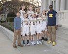 Menlo School Knights Girls JV Basketball Winter 17-18 team photo.