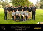 Citrus Valley Blackhawks Boys Varsity Golf Spring 17-18 team photo.