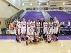 Hanford Bullpups Girls Varsity Basketball Winter 17-18 team photo.