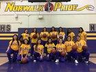 Norwalk Lancers Girls Varsity Basketball Winter 17-18 team photo.