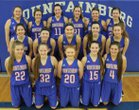 Mountainburg Dragons Girls Varsity Basketball Winter 17-18 team photo.