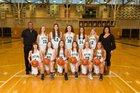 Skyline Spartans Girls Varsity Basketball Winter 17-18 team photo.