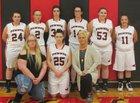 Pawnee Coyotes Girls Varsity Basketball Winter 17-18 team photo.