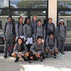 Boyd Anderson Cobras Girls Varsity Basketball Winter 17-18 team photo.