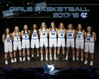 Central Valley Bears Girls Varsity Basketball Winter 17-18 team photo.