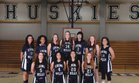 Chino Hills Huskies Girls Varsity Basketball Winter 17-18 team photo.