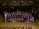 Maple Mountain Golden Eagles Girls Varsity Basketball Winter 17-18 team photo.
