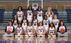 Allen Eagles Girls Varsity Basketball Winter 17-18 team photo.