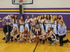 Madison Panthers Girls Varsity Basketball Winter 17-18 team photo.