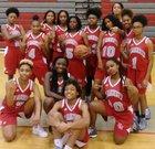New Manchester Jaguars Girls Varsity Basketball Winter 17-18 team photo.