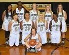 Pittsburg Pirates Girls Varsity Basketball Winter 17-18 team photo.