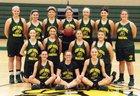 Doddridge County Bulldogs Girls Varsity Basketball Winter 17-18 team photo.