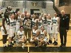 Highland Hawks Girls Varsity Basketball Winter 17-18 team photo.