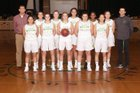 Bishop Blanchet Braves Girls Varsity Basketball Winter 17-18 team photo.