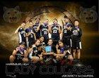 Harrisburg Cougars Girls Varsity Basketball Winter 17-18 team photo.