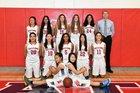 Saratoga Falcons Girls Varsity Basketball Winter 17-18 team photo.
