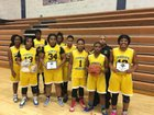 Sankofa Freedom Academy  Girls Varsity Basketball Winter 17-18 team photo.