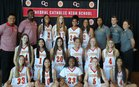 Cathedral Catholic Dons Girls Varsity Basketball Winter 17-18 team photo.