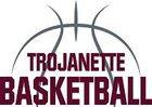 Troy Trojans Girls Varsity Basketball Winter 17-18 team photo.