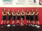 Community Baptist Conqueror Girls Varsity Basketball Winter 17-18 team photo.