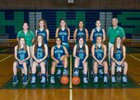 Heritage Hawks Girls Varsity Basketball Winter 17-18 team photo.