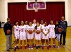 Saint Mary's Panthers Girls Varsity Basketball Winter 17-18 team photo.