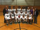Southeast Raleigh Bulldogs Girls Varsity Basketball Winter 17-18 team photo.
