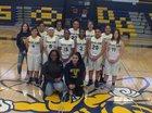 Highland Hornets Girls Varsity Basketball Winter 17-18 team photo.