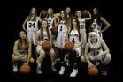 Skyline Eagles Girls Varsity Basketball Winter 17-18 team photo.